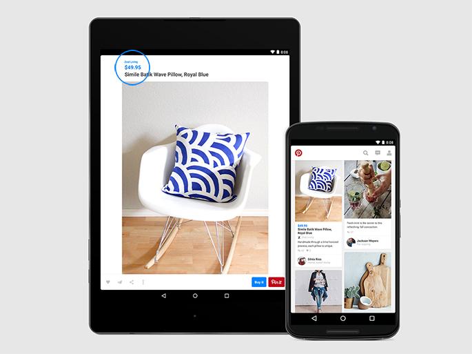 Pinteret vous souhaite un bon shopping sur Android