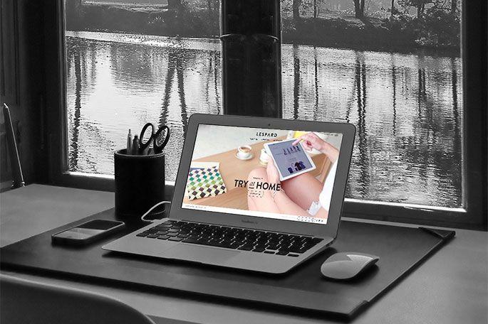 Try-home : ordinateur sur un bureau