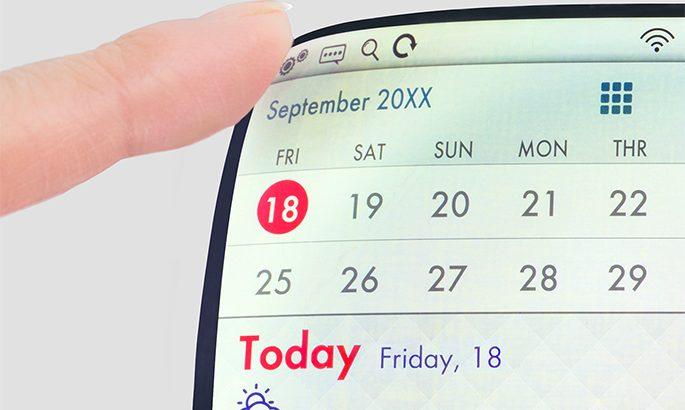 écrans smartphones flexibles