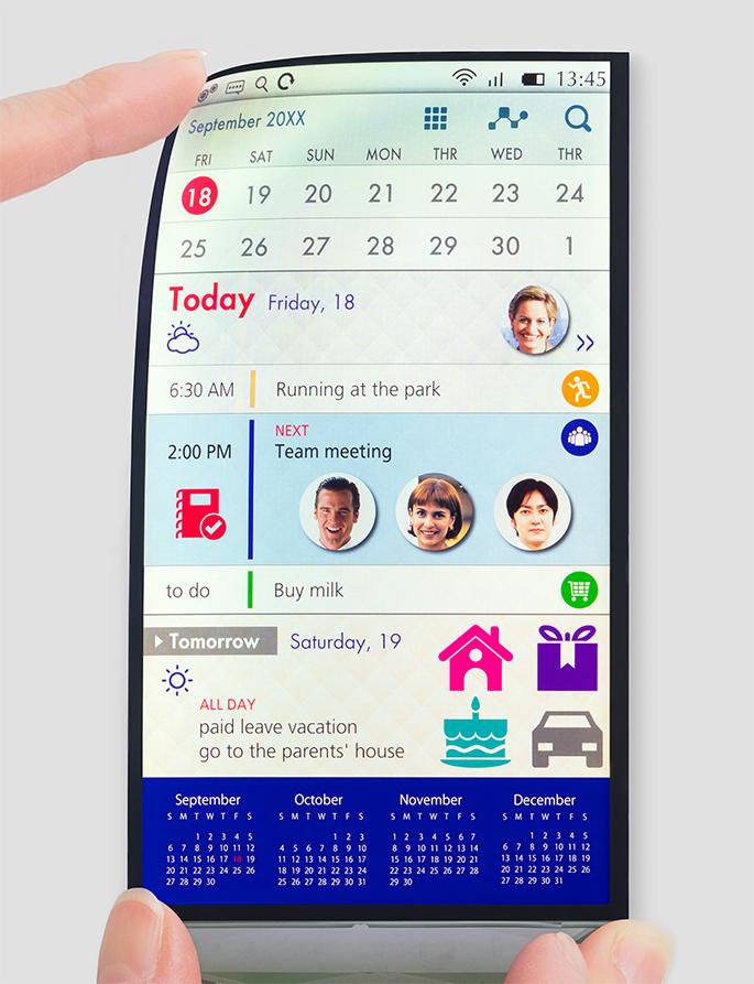 écrans de nos smartphones seront flexibles
