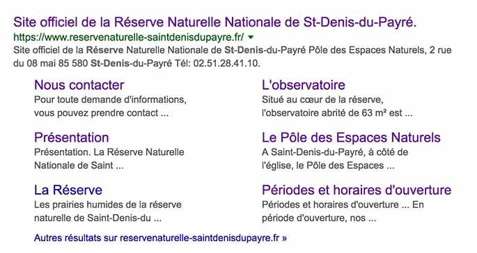 Sitelinks Réserve naturelle de Saint-Denis-du-Payré